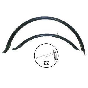 """Крылья велосипедные комплект, Vinca HN 12 (26"""") black, 26, ширина 60мм, удлиненные, черные.Крылья для велосипедов<br>Крылья велосипедные комплект, Vinca HN 12 (26"""") black, 26,ширина 60мм, удлиненные, черные.<br>Комплект крыльев удлиненных с резиновой защитой на концах, укомплектованы усами, 26, ширина  60мм,  PVC, cтойка Z2, цвет черный."""