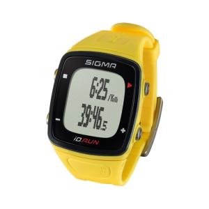 Часы спортивные SIGMA SPORT iD.RUN: скорость и расстояние (на основе GPS), желтыеВелокомпьютеры<br>Часы спортивные SIGMA SPORT iD.RUN: скорость и расстояние (на основе GPS), индикатор расстояния, счётчик кругов, месячная статистика, личные достижения, отслеживание активности. Желтый.<br><br>Sigma Sport ID.RUN объединяет в себе все функции спортивных часов, фитнес-трекера и бегового компьютера. Благодаря датчику GPS вы не потеряетесь даже на пробежках по новым маршрутам и получите точную информацию о скорости бега и пройденного расстояния. ID.RUN следит за вашей активностью где бы вы ни находились. Функция отслеживания активности также работает без взаимодействия с вашим мобильным устройством. <br><br>Функции: <br>Определение скорости и дистанции по GPS или за счёт датчика ускорения (акселерометра), Средняя скорость, Средняя скорость на круг, Расстояние по кругу, Максимальная скорость, Общее расстояние, Будильник, Часы, Текущее время круга, Дата, Время последнего круга, Секундомер до одной десятой секунды, Тренировочное время, Отслеживание активности, Калории отслеживания активности, Расстояние отслеживания активности, Этапы отслеживания активности, Определенные промежуточные цели (бронза серебро золото), Индивидуальная ежедневная цель (этапы), Средняя частота шага, Средняя длина шага, Частота текущего шага, Длина текущего шага, Максимальная частота шага, Максимальная длина шага, Экспорт данных о деятельности в приложение SIGMA LINK и DATA CENTER, Передача данных NFC в приложение SIGMA LINK, Передача данных USB в DATA CENTER, Дисплей с подсветкой, Индикатор заряда аккумулятора, Блокировка кнопок, Большой дисплей, Минеральное стекло, 8 доступных языков, Функция MyName, Счетчик кругов – 99, Резюме после тренировки, Ежемесячная статистика тренировок, Лучшие тренировки, 3 - спортивных профиля, индикатор заряда аккумулятора.