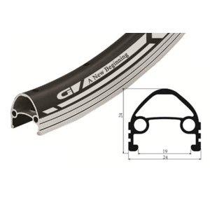 Обод велосипедный, Vinca sport GJD 24C (36H), 24, двойной, алюминиевый. 36Hх14G, защитная полоса.Обода<br>Обод велосипедный, Vinca sport GJD 24C (36H), 24, двойной, алюминиевый. 36Hх14G, защитная полоса, цвет черный.