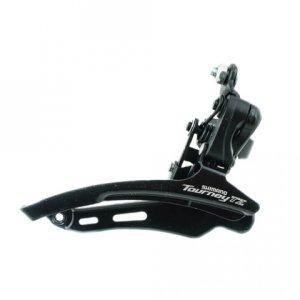 Велосипедный переключатель скоростей передний, TZ510, нижняя тяга, 28.6, 48T, AFDTZ510DSDS6Передние переключатели<br>Переключатель передний Shimano Tourney FD-TZ510, нижняя тяга, хомут 28.6, под 48T.<br>Тип переключателяПередний<br>Тип крепления переключателяпри помощи хомутов<br>Количество зубьев48<br>Хомут28.6<br>Страна производительКитай