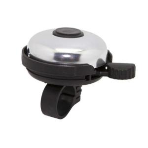 Звонок велосипедный, сталь/пластик, D=45мм, черно-серебристый, 00-170720 фото
