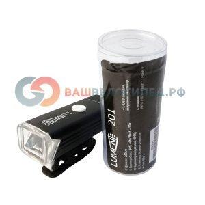 Фонарь велосипедный передний Lumen 201, 300 lumen, USB, 1200mAh, EBL201Фары и фонари для велосипеда<br>Легкий компактный передний фонарь Lumen 201 со встроенным аккумулятором и USB зарядкой. Фонарь оснащен поворотным быстросъемным креплением для установки на руль или вынос. Этот малыш полностью самодостаточен, не нужны провода для зарядки и не требуются инструменты или другие вспомогательные средства для установки! <br><br>Особенности <br>Яркость 300 люмен <br>Больше никаких проводов и инструментов для установки! <br>Влагозащита IPX-5 (можно использовать под дождем) <br>Аккумулятор 3.7V 1200mAh <br>Время полной зарядки 2ч. (автоматическая защита от перезаряда) <br>4 режима работы: яркий/слабый/стробоскоп/SOS
