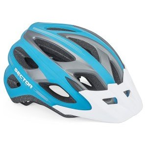 Велошлем AUTHOR с сеточкой Sector 163, 18 отверстий, INMOLD сине-серый, спортивный, 8-9001365Велошлемы<br>Шлем Sector c системой фиксации DialFit для быстрого регулирования шлема на голове. In-mold технология укрепляет структуру шлема. Антибактериальные, сменные вставки. 18 отверстий дают превосходную вентиляцию. Вес 236 грамм с щитком.