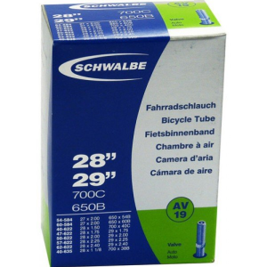 Велокамера Schwalbe 28x1.50-2.35, AV40 мм, автониппель, 10430340Камеры для велосипеда<br>под покрышку 26 x 3.5-4.8<br>120-559 (26 х 4,80)<br>Наименование продукта: Schwalbe MTB Fatbike Tube 13J<br>Производитель: Schwalbe<br>Вес: прибл. 390 грамм (информация производителя)<br>Размер: 90 120-559 (26 x 3,50 4,80)<br>Тип клапана: Presta (французский клапан)<br>Длина клапана: 40 мм
