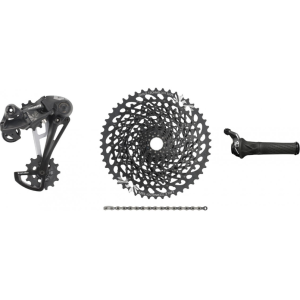 "Велосипедный группсэт ""SRAM"" GX Eagle Kit 1x12-speed, Grip Shift, black. GXEagleGripShiftblack"