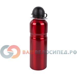 Фляга 5-340292 алюминий 0Фляги и Флягодержатели<br>алюминиевая, с защитным колпачком, 0,75л, красная, диаметер-65мм, висота-25см