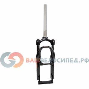 Вилка амортизационная для велосипеда RST Capa Т 20х28,6 пружинно-эластомерная 50мм V+D 1-0001Велосипедная вилка<br>NEW, JUNIOR, без резьбы, ход 50мм, пружинно-эластомерная, регулируемая, для V-брэйк- и дисковых тормозов, стойка 260мм, 1750г, черная