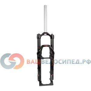 Вилка амортизационная для велосипеда RST F1RST AIR30 26х28,6 воздушно-масляная 100мм V+D 1-0090Велосипедная вилка<br>NEW, XC, без резьбы, ход 100мм, пружинно-эластомерная + воздушный картридж, регулируемая, гидравлическая регулируровка отскока и блокировки, штаны - магний, для V-брэйк и дисковых тормозов, стойка 260мм, 1860г, черная
