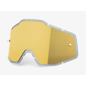 Линза 100% Racecraft/Accuri/Strata Anti-Fog Injected Gold Mirror, 51004-009-02 фото