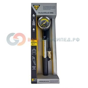 Насос высокого давления TOPEAK Pocket Shock DXG W/Dial Gauge (TPSMB-DX)Велосипедный насос<br>Заслуживший награду EuroBike, насос для амортизаторов и вилок. Мощный, точный и очень компактный. Умеет стравливать давление, позволяя легко и просто установить точное давление, исключая стравливание при отсоединении.<br><br>Характеристики:<br>Максимальное давление: 300 psi 20,7 атм<br>Клапан: с возможностью стравливания воздуха<br>Рукоять: пластмасса с резиновыми вставками<br>Манометр: аналоговый<br>Корпус: алюминий<br>Тип: для амортизаторов и вилок<br>Размер: 21,5 x 4,3 x 4,5 см<br><br>Вес: 170 г