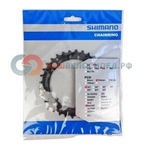 Звезда передняя SHIMANO для FC-M480-L 32T черного цвета Y1EA98100 фото