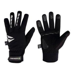 Велоперчатки Merida Warm Waterproof, длинные, гелевые вставки, теплые, черный/белый