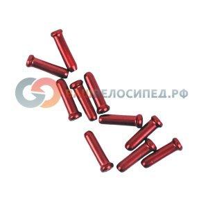 Наконечник троса Colt 1.1-1.6mm, красный, BMA-2211RDТросики и Рубашки<br>Разноцветные алюминиевые наконечники троса Colt.