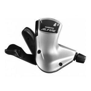 Шифтер Shimano Alfine S7008, правый, 8 скоростей, трос+оплетка, серебристый, ESLS70082100LS3