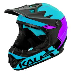 Шлем велосипедный KALI Full Face DOWNHILL/BMX ZOKA Gls, сине-черный 2019Велошлемы<br>Сине-черный, 12 вентиляционных отверстий, регулируемый по высоте козырек, антибактериальный моющийся внутренник, Zoka легкий, стильный, шлем для экстримальных дисциплин Downhill, Dirt, BMX и др., 980гр<br>Сертификаты безопастности EN 1078, CPSC, инд. уп