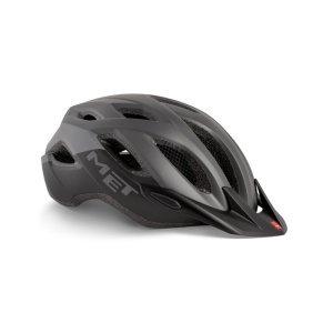 Велошлем Met Crossover, серо-черный 2019Велошлемы<br>Лёгкий универсальный шлем, который отлично подойдёт для использования в условиях города – этому способствует его низкий вес, оптимальная вентилируемость и встроенный светодиодный фонарь. Шлем можно использовать как с козырьком, так и без него.<br><br><br><br>ОСОБЕННОСТИ<br><br><br><br>Универсальная модель, оптимальная для использования в условиях города<br><br>Встроенный светодиодный фонарь<br><br>Сменные внутренние накладки из гипоаллергенного материала<br><br>Вес: 290-350 граммов (в зависимости от размера)