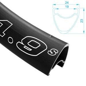 Обод велосипедный ALEX RIMS DRAW 1,9S, 700Сх19мм х 28H, F/V, асимметричный профиль, D, чёрный (шоссе) фото