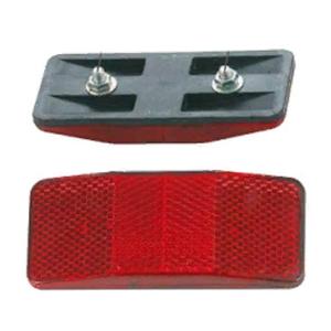 Светоотражатель, задний, красный, пластик, HL-R08
