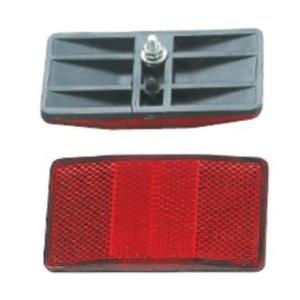 Светоотражатель, задний, красный, пластик, HL-R09