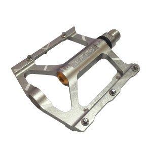 Педали алюминиевые CNC, 90х94х11мм, ось CrMo, 3 подшипника, сменные шипы, вес 288г/пара, mlg-CK563 фото