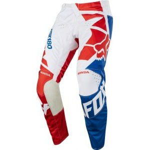 Велоштаны Fox 180 Honda Pant для экстремальной езды, красный 2018Велоштаны<br>Классические велоштаны от Fox в командной расцветке Fox Racing Honda. Основные особенности данной модели – вставки из эластичного материала в критических местах. В остальном, это всё те же традиционные, проверенные временем велокроссовые штаны.<br><br>Материал: устойчивый к истиранию полиэстер 600D<br><br>Командная расцветка Fox Racing/Honda<br><br>Особый крой для оптимальной посадки <br><br>Кожаные накладки на внутренней части коленей<br><br>Вставки из эластичного материала в критических местах<br><br>Асимметричная графика HONDA