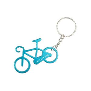 Брелок M-WAVE для ключей велосипед, алюминиевый, голубой, логотип, 5-719908Разное<br>Для распространения среди клиентов<br>продажи, ориентированные на бренд<br><br>цвет: матовый синий