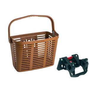 Велокорзина BELLELLI PLAZA, коричневая, 01PLZ240000