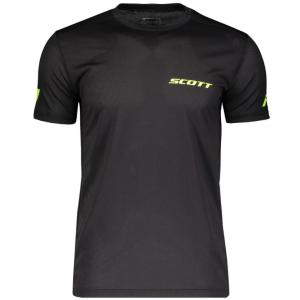 Футболка велосипедная SCOTT Promo Run black/yellow, 2019, 270170-1040