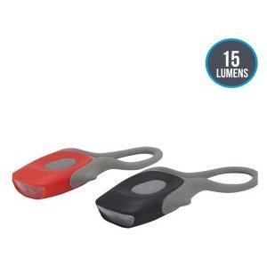 Комплект велофонарей габаритных Briviga, силиконовый корпус, яркость до 15 лм, питание от батареек CR2032, EBSL-001 фото