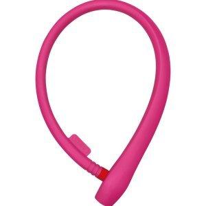 Велосипедный замок ABUS UGRIP Cable 560 тросовый, на ключ, 650 х 8, розовый, 584732_ABUS