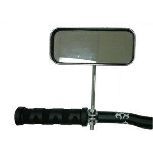 Зеркало Multibrand, прямоугольное с катафотамии, серый, на руль,CL-102 фото