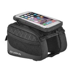 Велосумка LOTUS SH7-P23, на раму, с чехлом для смартфона, черный, LOTUS_SH7-P23