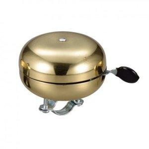 Звонок велосипедный NUVO, латунный, двухтональный, диаметр 68 мм, золотой, NUVO_NH-B688