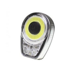 Фонарь велосипедный Moon Ring 1, передний, диодный, 6 режимов, прозрачный с серебристым, яркость 60, USB, WP_Ring_W