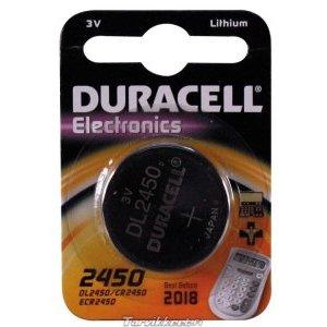 Батарейка ANSMANN CR2450 3V на блистере, кнопочного типа, серебристый, литейная, SIG_20316