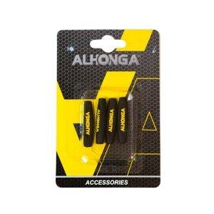 Комплект накладок на оболочку троса Alhonga HJ-PX006, силикон, на блистере, 4 штуки, черный, ALH_HJ-PX006
