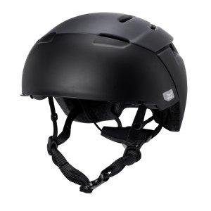 Шлем велосипедный KALI URBAN/CITY CITY, ВИЗОР-ОЧКИ, 9 отверстий, CF+, Mat/Blk фото
