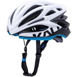 Шлем велосипедный KALI LOKA ШОССЕ/ROAD,CF, 21 отверстие, Mat Wht/Blk/Blu фото