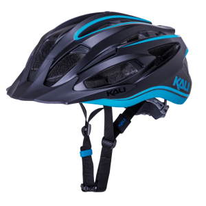 Шлем велосипедный KALI ALCHEMY TRAIL/MTB, LDL, CF, 21 отверстий, Mat Blk/Blu фото