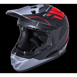 Шлем Full Face DH/BMX KALI Zoka, 6 отверстий, Mat Blk/Red/Gry (черный-красный-серый), ABS фото