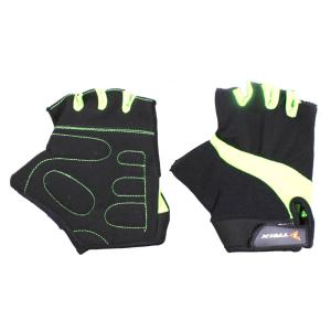 Велоперчатки мужские TRIX , зеленые фото
