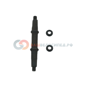 Ось каретки NECO 3MC, 32-52-43,5, под гайки, ширина каретки 68 мм, длина оси 127,5 мм, 3MC фото