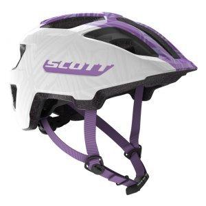 Шлем велосипедный подростковый Scott Spunto Junior (CE), бело-фиолетовый 2020 фото