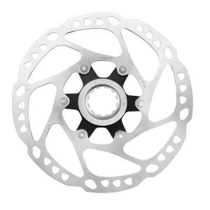 Диск тормозной велосипедный Shimano RT64, 160мм, C.Lock, с стопорным кольцом, внутренные шлицы, ESMRT64SI3C фото