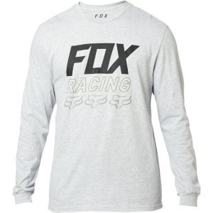 Толстовка Fox Overdrive LS Tee Light Heather, серый 2020