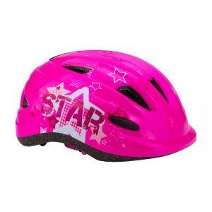 Шлем велосипедный Vinca sport VSH 7, детский, с регулировкой, розовый, рисунок -