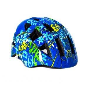 Шлем велосипедный Vinca sport VSH 8, детский, с регулировкой, синий, рисунок -