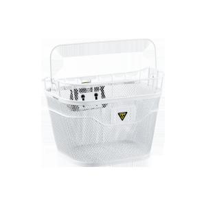 Велокорзина Topeak Basket Front (W/ FIXER 3E), на руль, White, TB2011-W